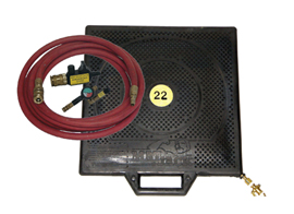 air bag jack with valves, hose and connectors